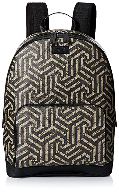 3a3ec8cd7cd1 GUCCI Men's GG Supreme Canvas 'Caleido Print' Leather Trim Backpack, Black,  One Size: Amazon.ca: Shoes & Handbags