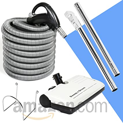 30 Hose Kit With Beam Central Vacuum Electric Powerhead Sweep N Groom Rugmaster By