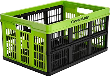 clevermade 45 liter collapsible storage grated wall utility baskettote
