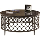 "Hillsdale 5752OTC Brescello Round Coffee Table, 36"", Charcoal/Blue Stone"