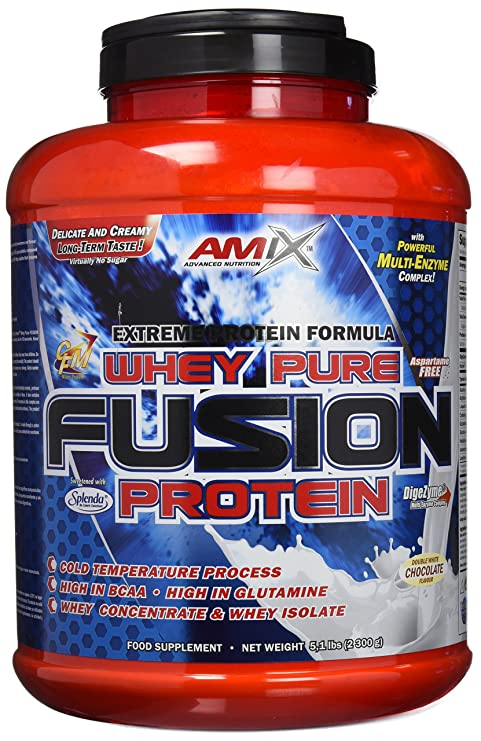 Amix Whey Pure Fusion 2,3 kg Doble chocolate blanco