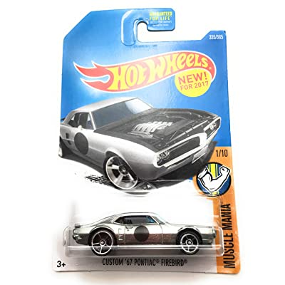 Hot Wheels 2020 Muscle Mania Custom '67 Pontiac Firebird 335/365, Silver: Toys & Games