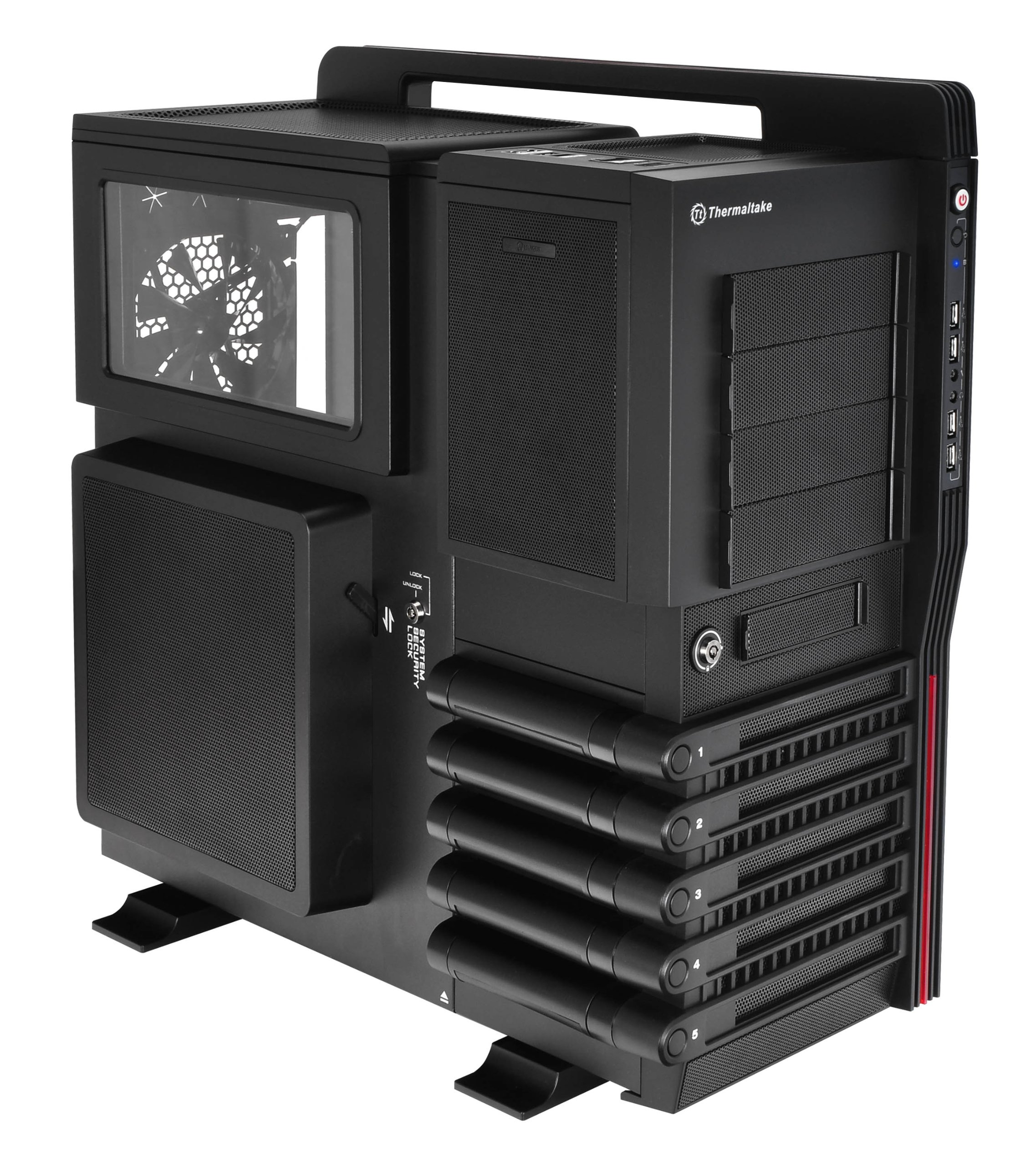 Thermaltake LEVEL 10 GT Super Gaming Modular Full Tower Computer Case - VN10001W2N Black