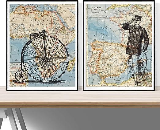 Nacnic Pack Viaje ESPAÑA-Africa. Posters con imágenes del Mundo ...