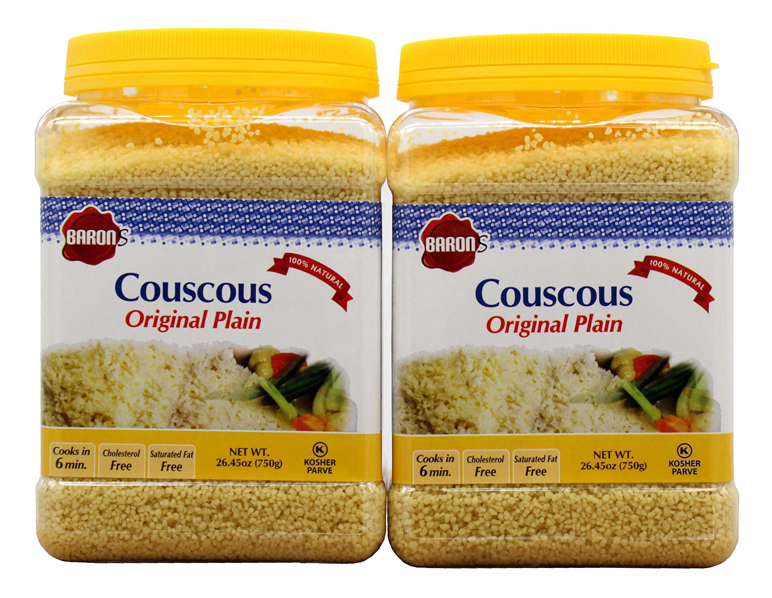 Baron's Kosher Plain Traditional Original Couscous 26.45-ounce Jar (Pack of 2)