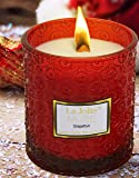 Wood Wick Scented Candle 21OZ Large Glass Jar, 100% Soy Wax, Grapefruit Essential Oil, Thanksgiving Christmas Gifts