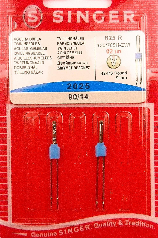 2genuine Singer Sewing Machine Needle Universal Twin Needles 2025Gauge 90/14