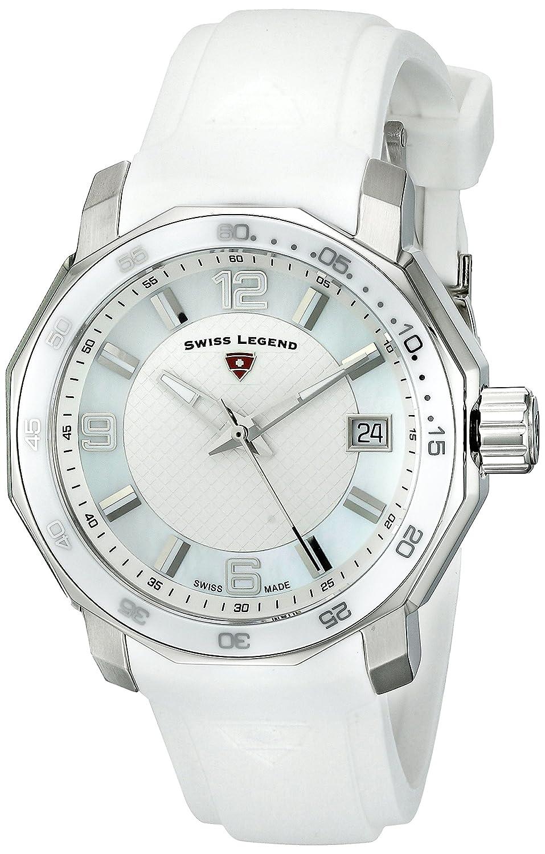 Swiss Legend Blue Geneve Damen-Armbanduhr Armband Silikon GehÄuse Edelstahl Schweizer Quarz 16191SM-02-WHT