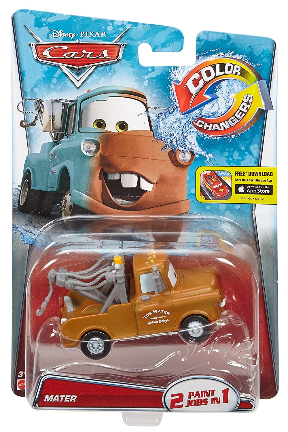 Amazon.com: Disney/Pixar Cars, Color Changers Mater [Brown to Teal ...