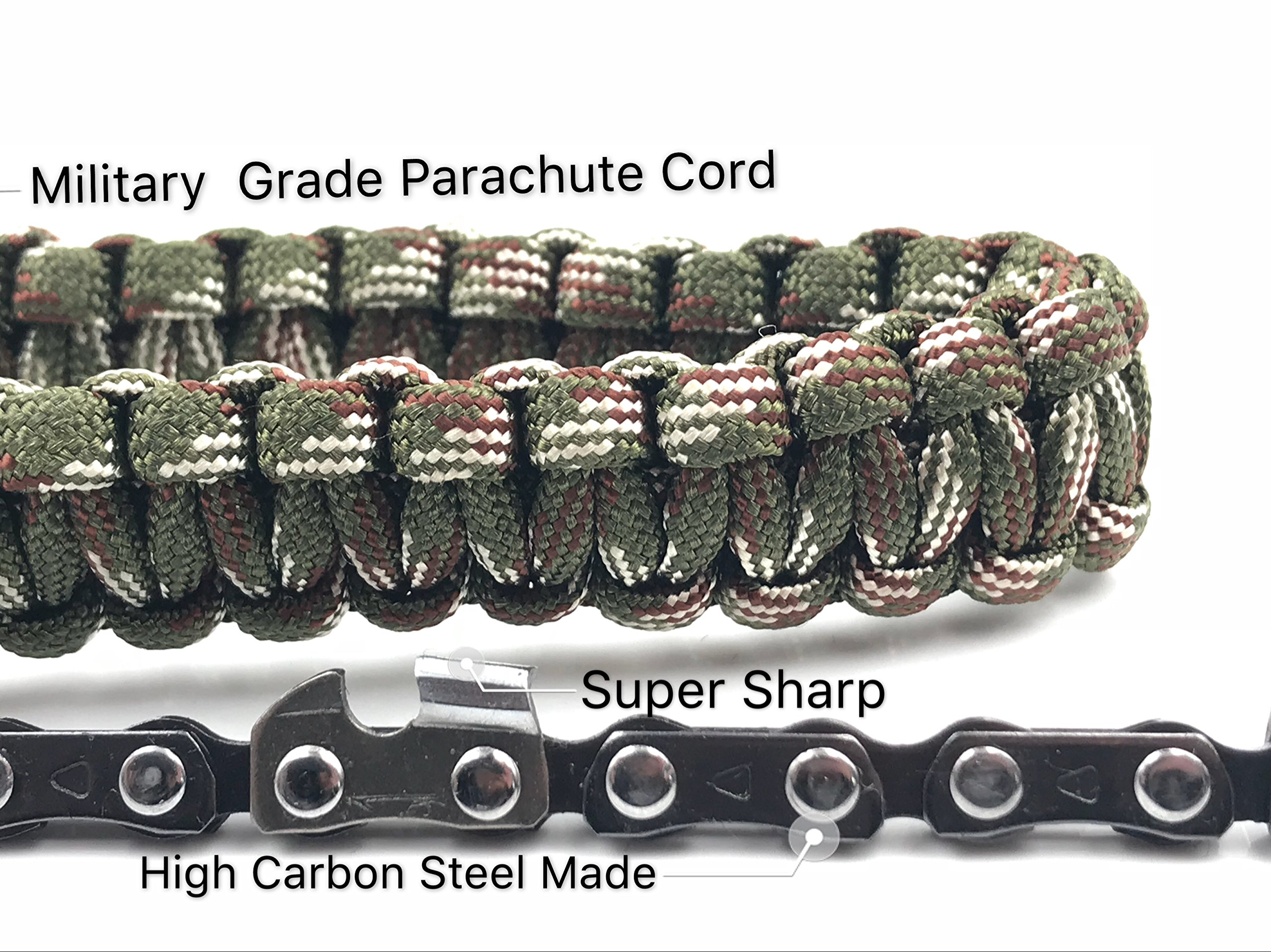 Modernlife Pocket Chainsaw with Paracord Handle 24 inch 11 Teeth Best Compact Folding Hand Saw Tool for Survival Gear, Camping, Hunting, Tree Cutting or Emergency Kit by Modernlife (Image #4)