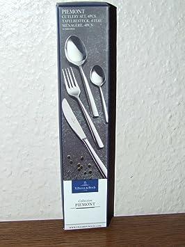 Villeroy and Boch 12-6264-9010 Piemont cubertería de 4 piezas: Amazon.es: Hogar