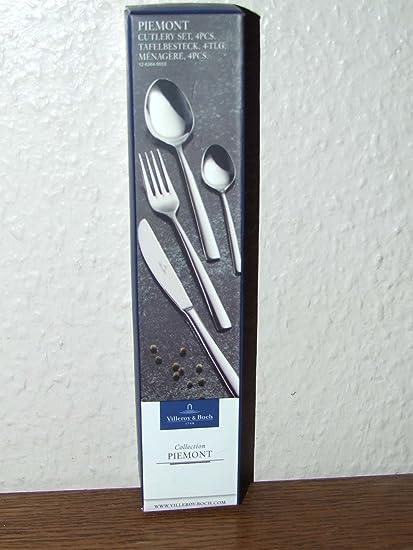 Villeroy and Boch 12-6264-9010 Piemont cubertería de 4 piezas