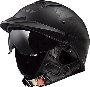 LS2 Helmets Motorcycle & Powersports Helmet's Half Rebellion (1812 Matte Black Flag, X-Large)