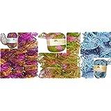 Clearance Pack of 3 Balls Metallic Dee Ruffle Scarf Yarn Mix Colors Lot (mix25)