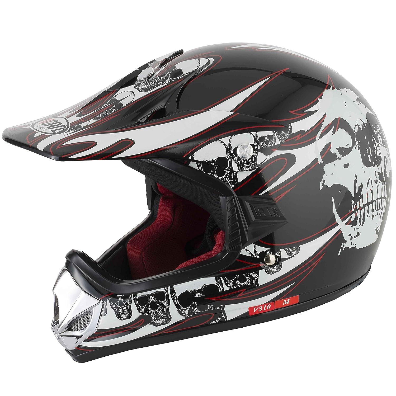 Vcan V310 Off Road Motocross/ATV Youth –  Casque Tê te de mort 0746060903546