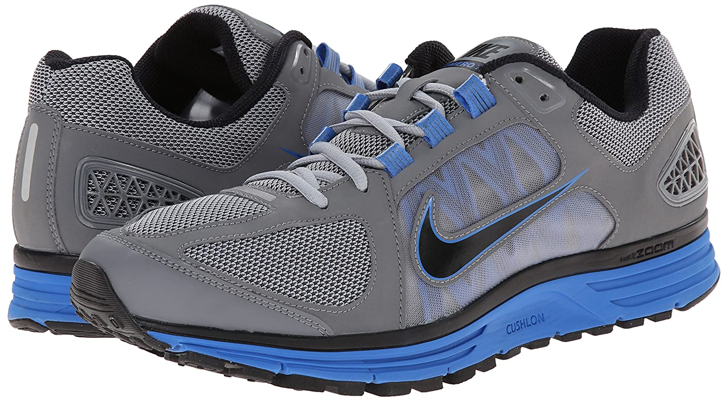 dc7e2d627579 Nike Men s Zoom Vomero+ 7 WLFGRY Black Running Shoes-12 UK India(47.5EU) ( 511488-004)  Buy Online at Low Prices in India - Amazon.in