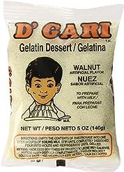 DGari Gelatin Dessert, Walnut, 5 Ounce (Pack of ...