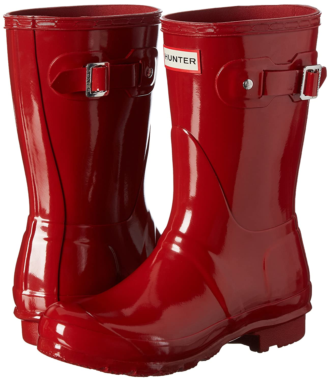 Hunter Women's Original Short Gloss Rain Boots B00K1WCZ82 11 B(M) US Military Red