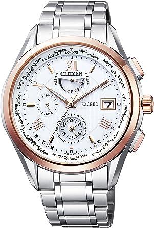 f0577867bc [シチズン]CITIZEN 腕時計 EXCEED エクシード エコ・ドライブ電波時計 ダブルダイレクトフライト AT9114