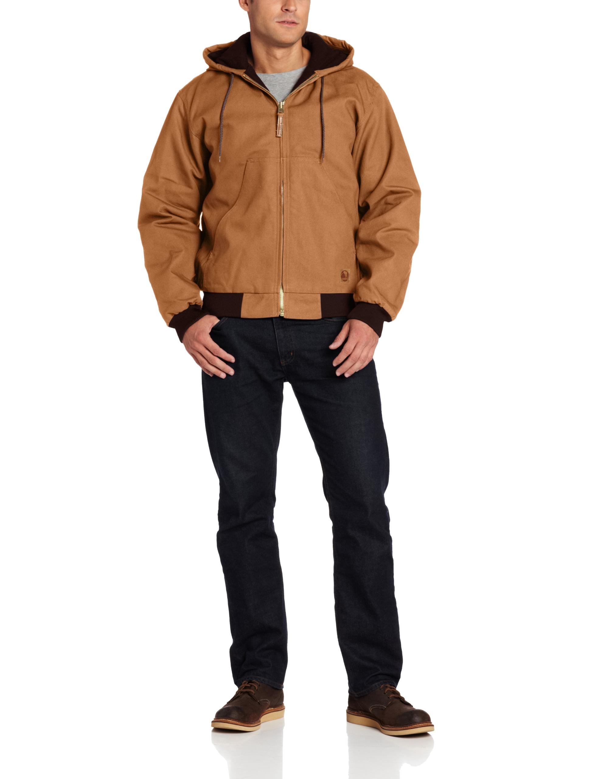 Berne Men's Original Hooded Jacket, Brown, Small/Regular by Berne