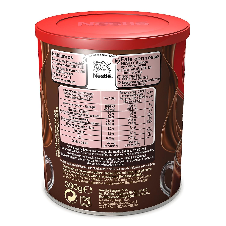 Nestlé Magnesio Chocolate en polvo - Bote 390 gr: Amazon.es ...