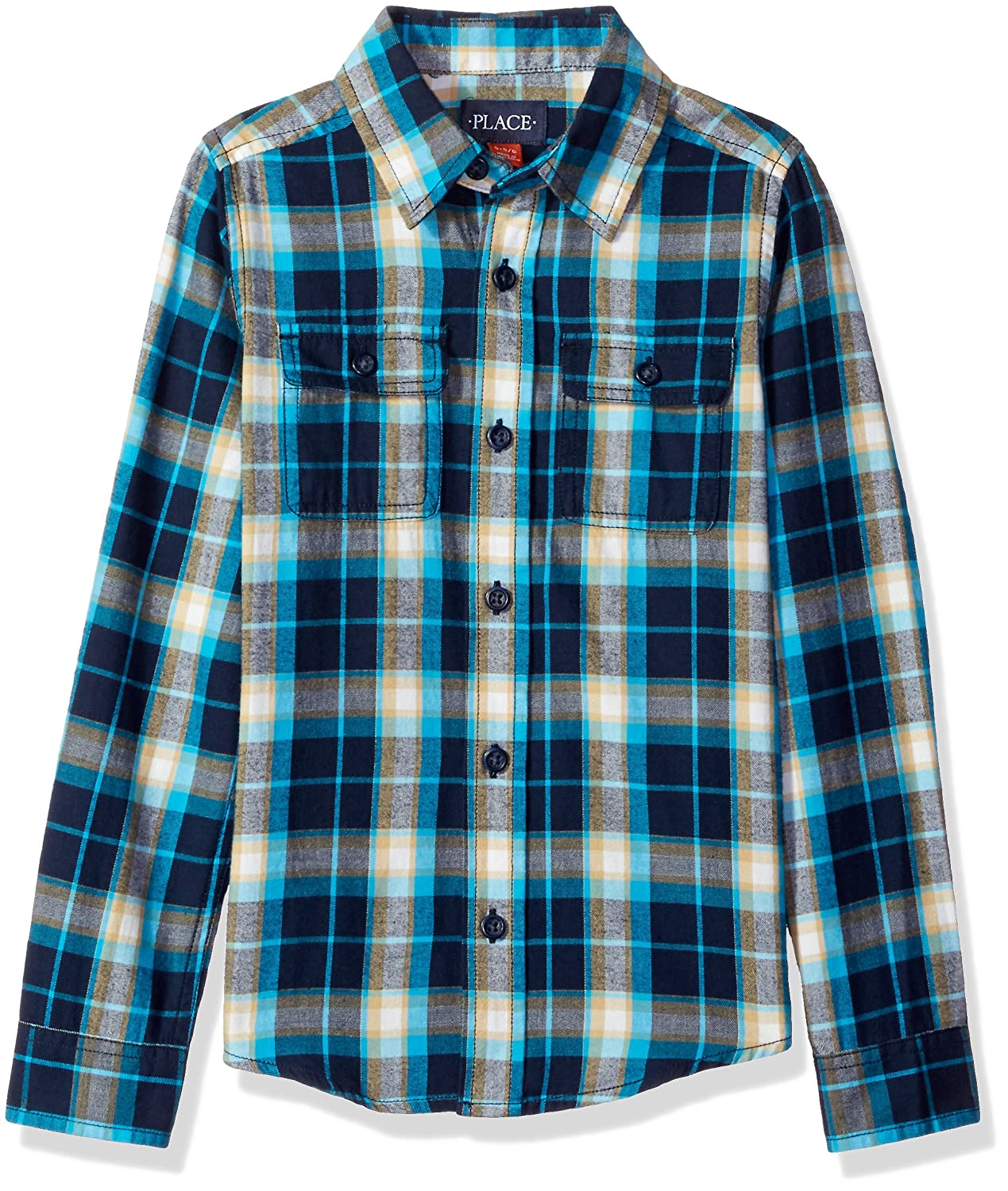 The Children's Place Boys' Long Sleeve Brushed Shirt
