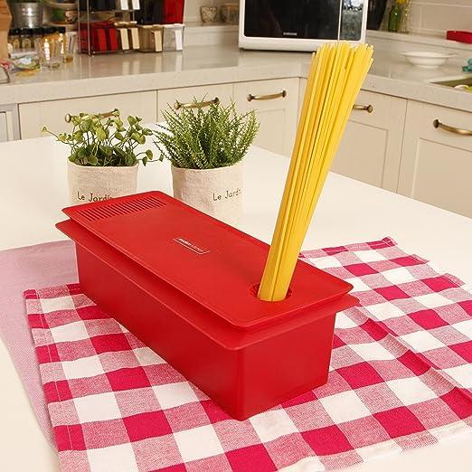 HSI microondas para cocción de pasta, color rojo: Amazon.es ...