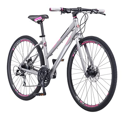888696ba872 Schwinn Phocus 1500 Flat Bar Sport Fitness Hybrid Bikes, 17-Inch/Small  Step-Through or 19-Inch/Large Step-Over Aluminum Frame with Shimano 24-Speed  ...