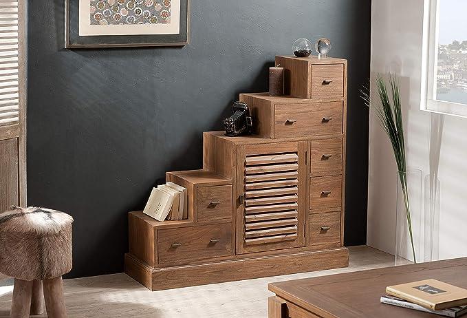 MACABANE Nomades Design 501153 – Mueble Escalera Madera/contrachapado 37 x 105 x 102 cm: Amazon.es: Hogar