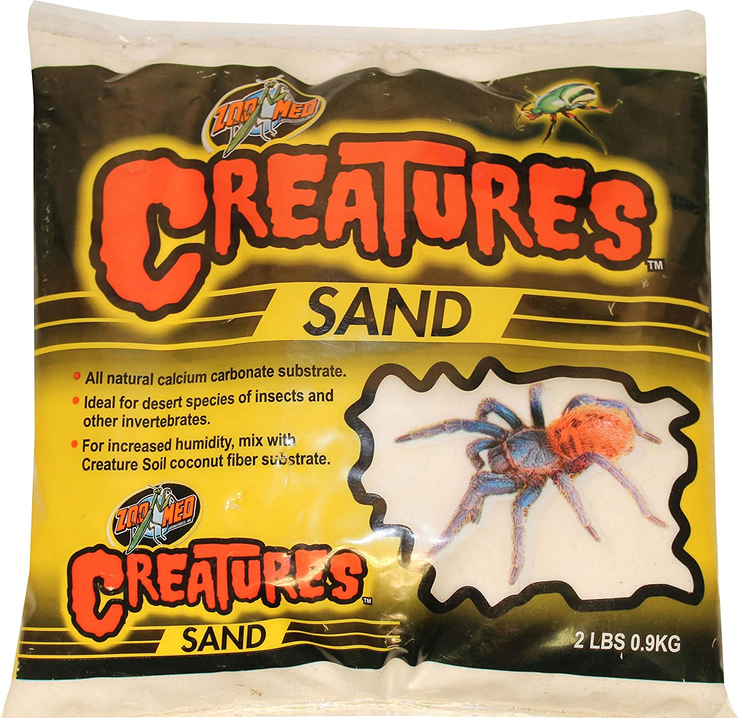 Zoo Med Creatures Sand - Desert White 2lbs, 2 Pack! Zoo Med Labs