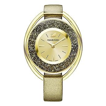 Swarovski Reloj Crystalline Oval, dorado