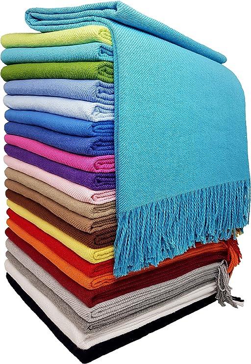 Manta de algodón, manta de algodón, funda de cama, 130 x 170 cm ...