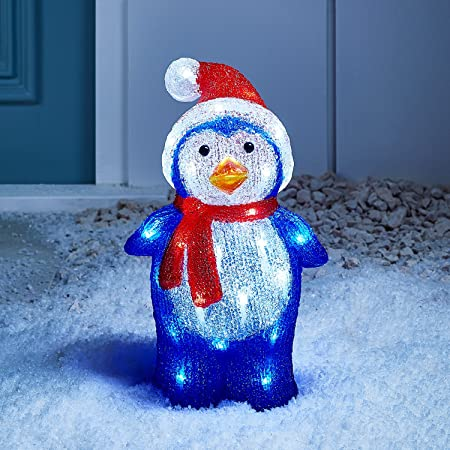 Light Up LED Christmas Penguin for Indoor Outdoor Use by Lights4fun ...