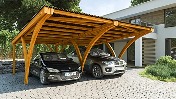 andrewex CarPort Auto Garage Carport único 600 x 308 cm o doble ...