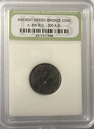 400 BC - 300 AD Ancient Greek Bronze Comes in a Hard case Coin AG-G