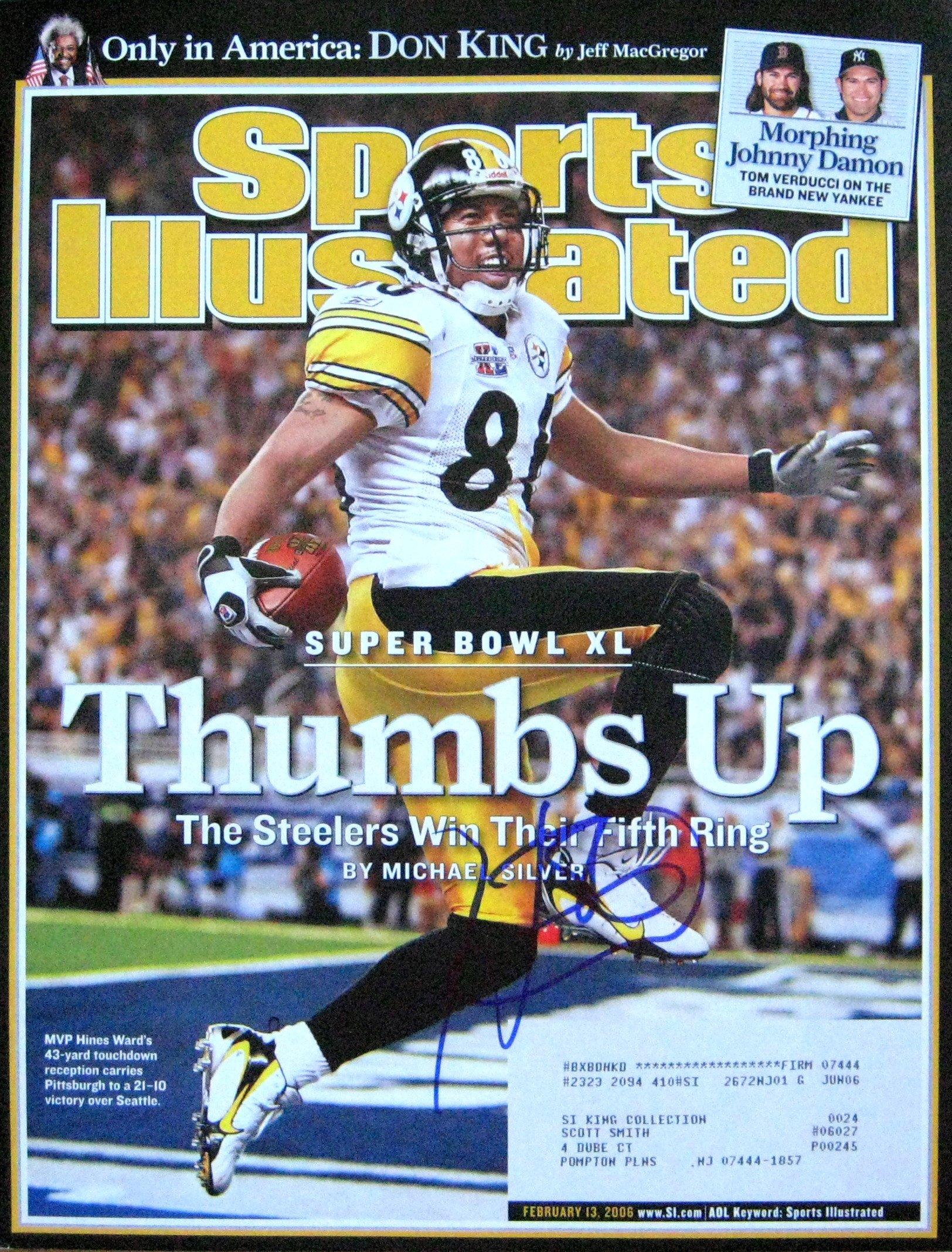Hines Ward STEELERS autographed Sports Illustrated magazine 2/13/06
