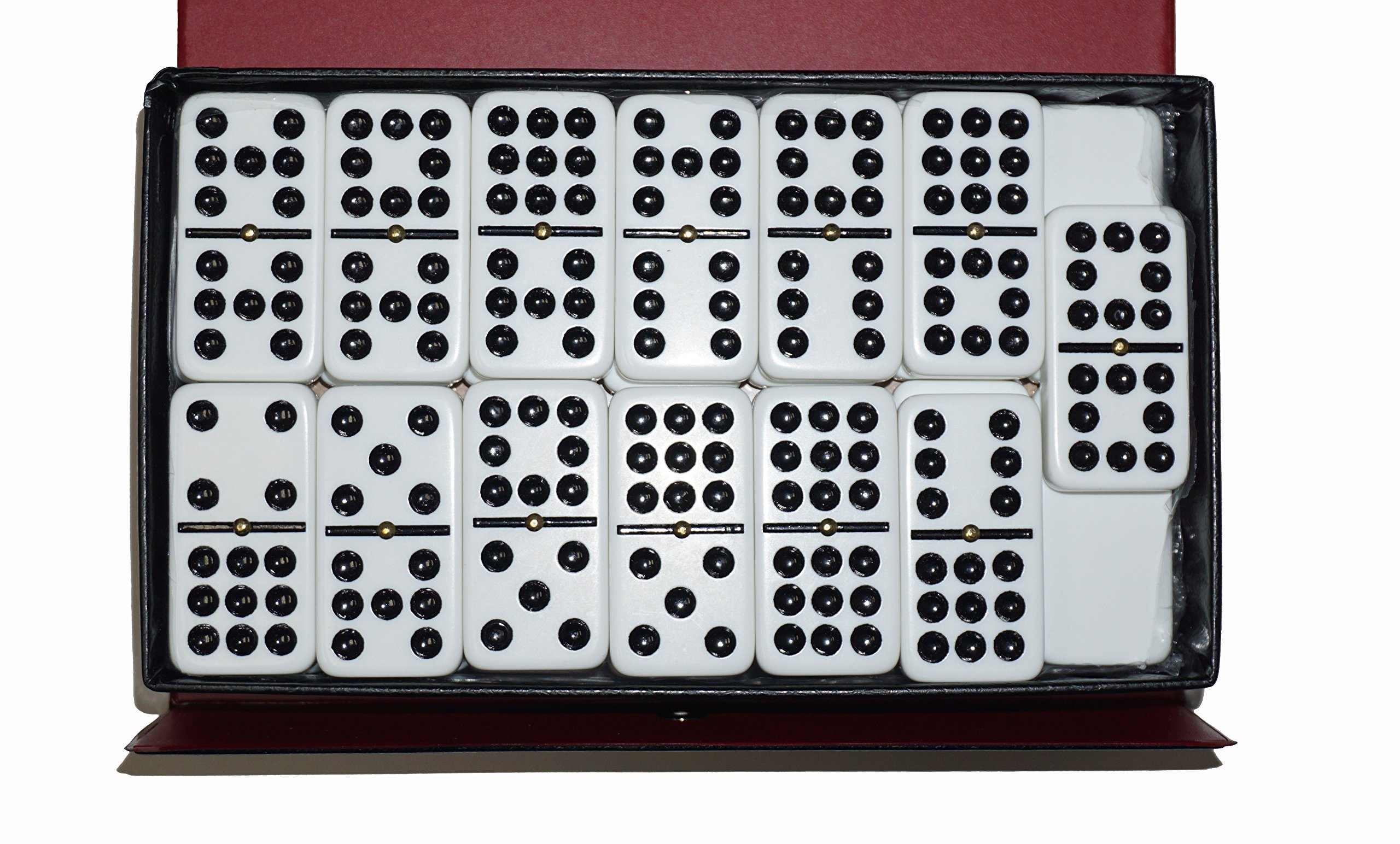 Dominoes Double 9 Nine Jumbo Size White Tile with Spinners by CHH