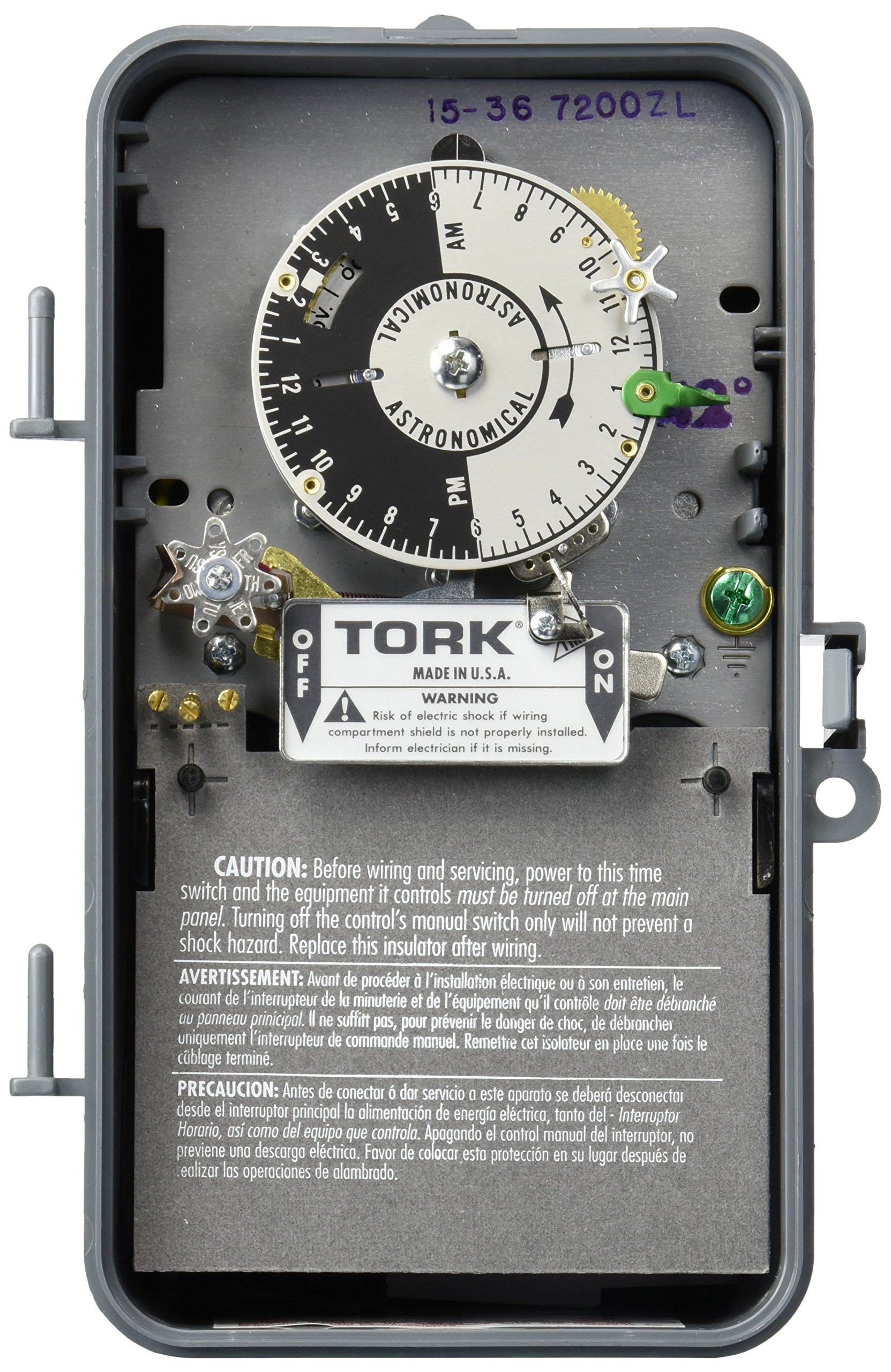 Tork 7200ZL-42 SunSet with Skip-A-Day and Reserve Power Astronomic Time Switch - 42 Degrees