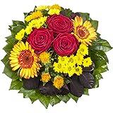 """Dominik Blumen und Pflanzen, Blumenstrauß""""Blütenmeer"""" mit roten Rosen"""