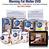 Morning Fat Melter Workout DVD for Women – Lose 30 Pounds Easy With Our 2 Months Weight Loss Program - 18 Workout Videos + 60 Days Pdf Meal Plan & Manuals on 2 Exercise DVDs – Beginner & Advanced