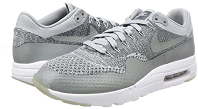 2fe5529347d Nike Men s Air Max 1 Ultra Flyknit Wolf Grey WLF Grey Drk Gry Wht Running  Shoe 9. 5 Men US  Buy Online at Low Prices in India - Amazon.in
