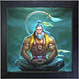 Sehaz Artworks 'Lord Hanuman' Wall Photo Painting (Carbon Fibre, 30 cm x 30 cm x 3 cm)