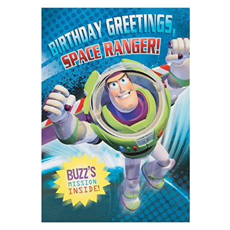 Amazon Disney Toy Story Buzz Lightyear Birthday Card – Buzz Lightyear Birthday Card