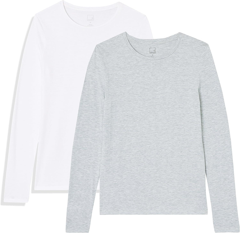 MERAKI T-shirt Girocollo a Manica Lunga Donna Marchio