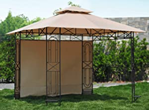 Sunjoy 110109345 Replacement Canopy Set for 10x10 ft Gardenscape Gazebo L-GZ071PST-3