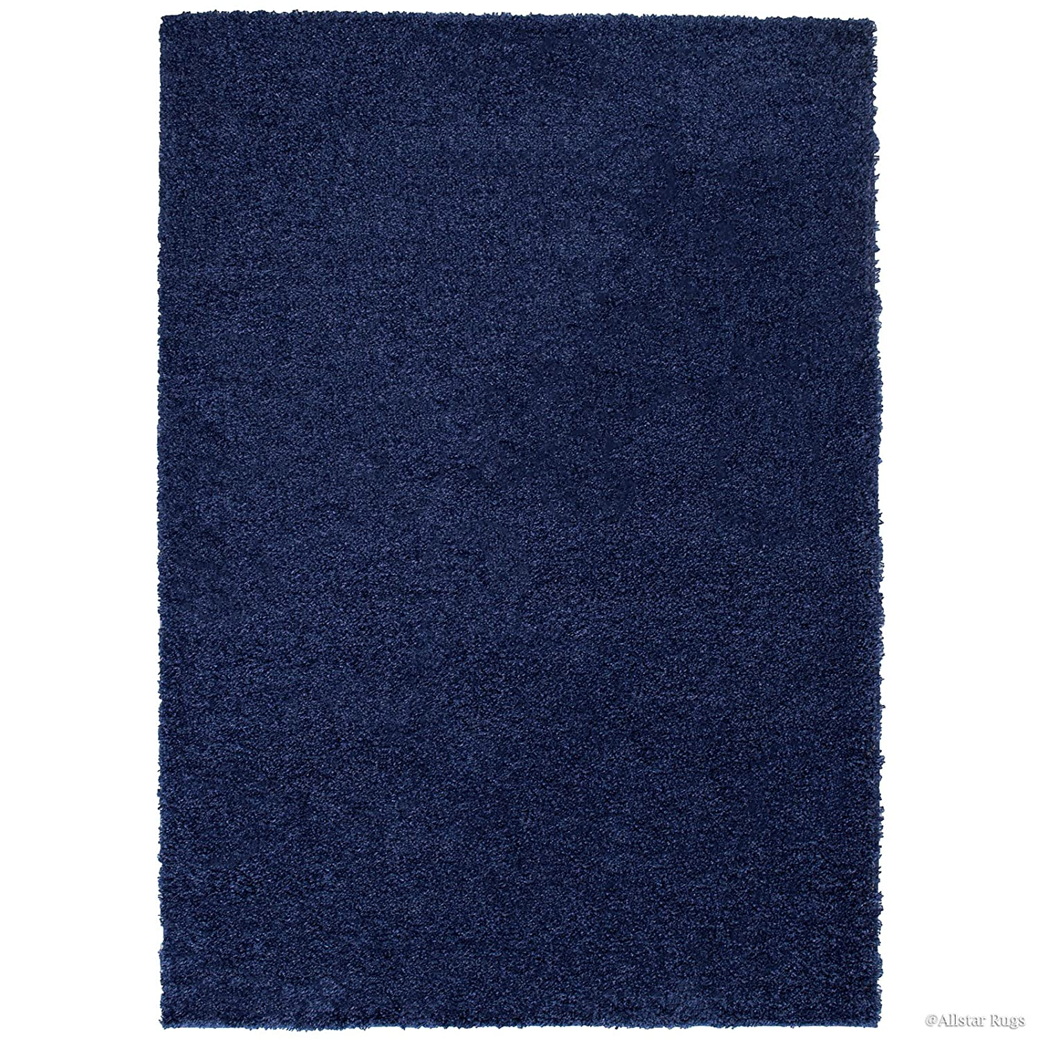 "Amazon.com: Allstar 8 X 10 Dark Blue Modern High Pile Posh And Shaggy Solid Area Rug (7' 9"" X 10'): Kitchen & Dining"