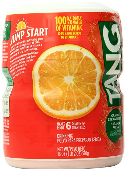 Amazon.com : Tang Powdered Drink Mix, Orange Strawberry, 18.0 Ounce (Pack of 12) : Grocery & Gourmet Food