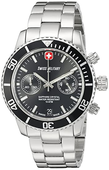 Swiss Military Alpha Swiss reloj cronógrafo de cuarzo cristal de zafiro 09502 3 N N: Amazon.es: Relojes