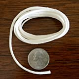 Firefly Brand - 5 Feet of 2.6mm Round Braided Cotton Replacement Wick for Oil Lamps and Candles.