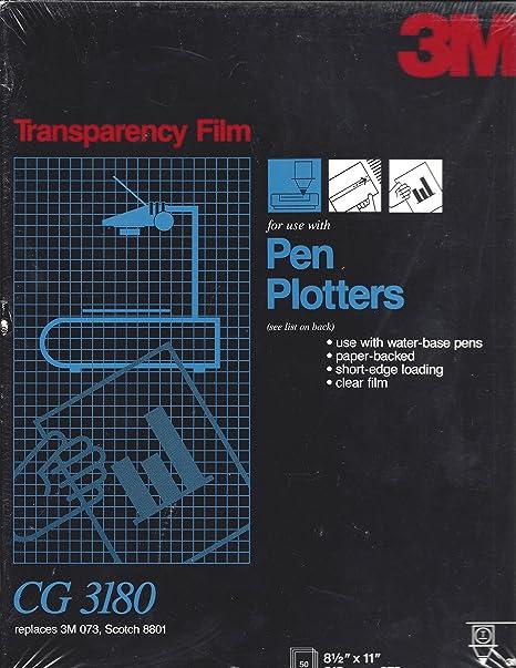 Amazon com : 3M CG3180 Transparency Film For Pen Plotter